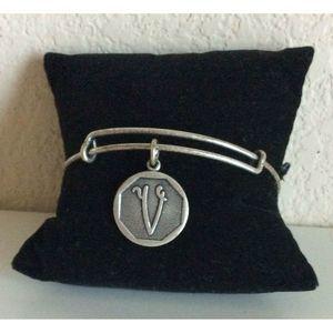Alex and Ani Initial V Energy 2013 Silver Bracelet